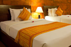 Balinese Style Bedroom Royalty Free Stock Photos