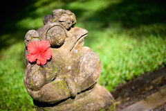 Balinese style frog sculpture Royalty Free Stock Photos