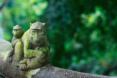 Balinese style monkey sculpture Royalty Free Stock Photo