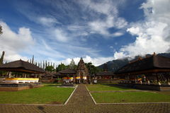Balinese Style Temple Courtyard Stock Photo
