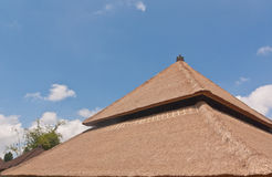 Balinese style thatch roof Royalty Free Stock Photos