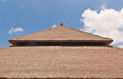 Balinese style thatch roof Royalty Free Stock Photo