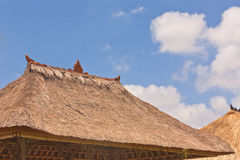 Balinese style thatch roof Stock Photography