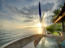 Balinese sunset Royalty Free Stock Image