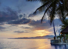 Balinese sunset Stock Images