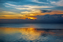 Balinese sunset Royalty Free Stock Images