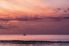 Balinese sunset 1. Picture was taken in South Bali, Indonesia stock photos