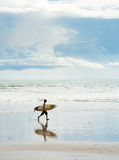 Balinese surfer Royalty Free Stock Photos