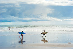 Balinese surfers Royalty Free Stock Photography