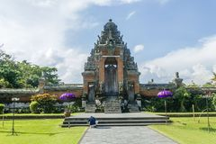 Balinese temple. Balinise traditional temples. Made in Bali, Indonesia Royalty Free Stock Images
