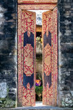 Balinese temple entrance door close up detail Stock Photography