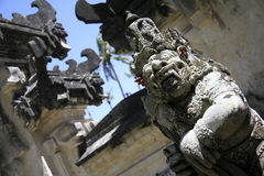 Balinese temple gates bali indonesia Royalty Free Stock Photo