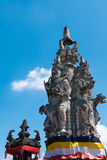 Balinese temple with Hinduism figures, Indonesia Royalty Free Stock Image