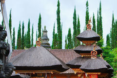Balinese temple roof Stock Photos