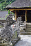Balinese temple sculptures. Tirta Empul Hindu Temple at Bali on Indonesia Royalty Free Stock Images