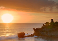Balinese temple on sunset Royalty Free Stock Images