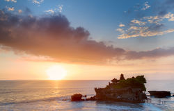 Balinese temple on sunset Stock Photos