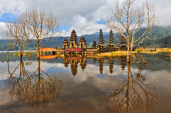 Balinese temple on Tamblingan lake, Bali Royalty Free Stock Photography