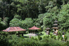 Balinese temples in the forest Royalty Free Stock Images