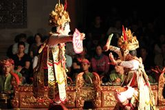 Balinese traditional Dancers (Men) Royalty Free Stock Photos
