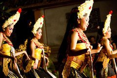 Balinese traditional Dancers (women) Stock Images