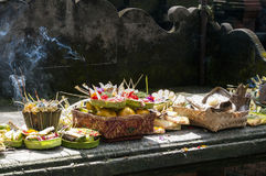 Balinese Traditional Offering hinduism buddhism religion. Balinese Traditional Offering Hinduism Buddhism Odalan religion Stock Images
