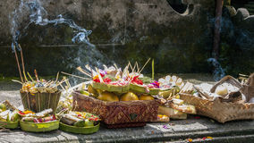 Balinese Traditional Offering hinduism buddhism religion. Balinese Traditional Offering Hinduism Buddhism Odalan religion stock photo