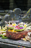 Balinese Traditional Offering hinduism buddhism religion. Balinese Traditional Offering Hinduism Buddhism Odalan religion Royalty Free Stock Photo