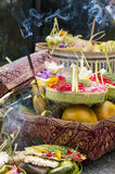 Balinese Traditional Offering hinduism buddhism religion. Balinese Traditional Offering Hinduism Buddhism Odalan religion Stock Photos
