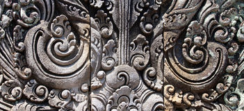 Balinese traditional stone carving elements Stock Photography
