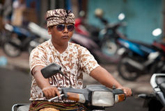 Balinese traffic Royalty Free Stock Photos