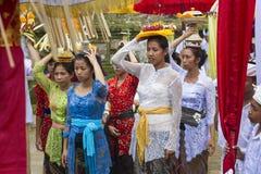Balinese vrouwen royalty-vrije stock foto