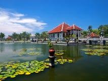 Balinese water palace. Taman Ujung water palace at Bali island in Indonesia Royalty Free Stock Photos
