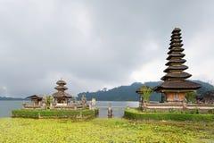Balinese water palace on Bratan lake Stock Photo