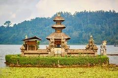 Balinese water palace on Bratan lake Stock Image