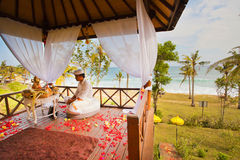 Balinese wedding ceremony Royalty Free Stock Images