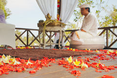 Balinese wedding ceremony Royalty Free Stock Photo