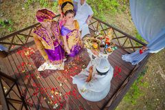 Balinese wedding ceremony Royalty Free Stock Photography