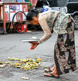 BALINESE WOMAN, INDONESIA Stock Images