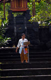 Balinese woman at temple Stock Photography