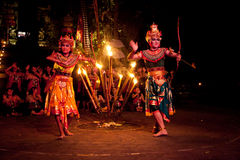 Balinese Women Kecak Fire Dance Show Stock Image