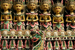 Balinese woodcarving puppets bali indonesia stock images
