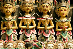 Balinese woodcarving puppets ubud bali Royalty Free Stock Image