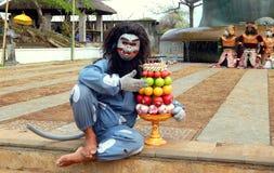 Balineseaffe-Maskentänzer Lizenzfreie Stockbilder