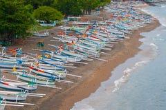 Balineseboote stockfoto