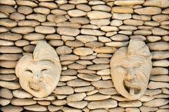 Balinesestil av väggen dekorerar Arkivbilder