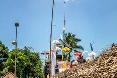 Balinesetempel während der traditionellen Zeremonie in Ubud, Gianyar lizenzfreies stockfoto