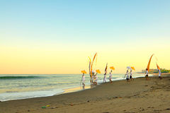 Balinesetradition auf Bali-Strandindonesien-Sand Lizenzfreie Stockbilder