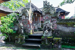 Baliness Style Temple in Bali Indonesia Stock Image