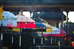 Balinesse temple umbrellas Royalty Free Stock Photo